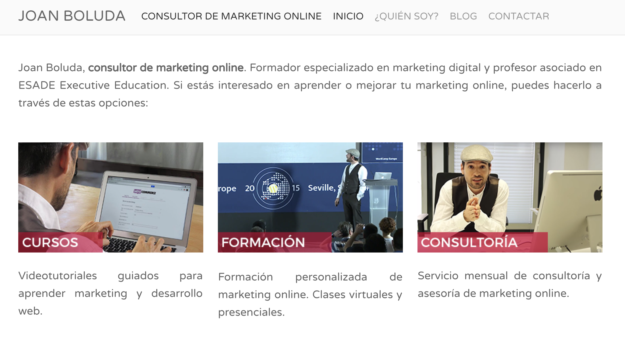 web antigua boluda.com